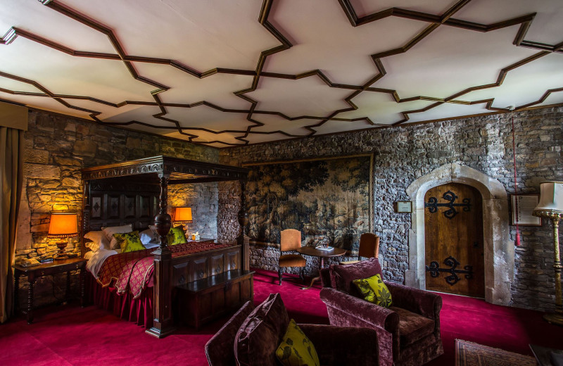Guest room at Thornbury Castle.