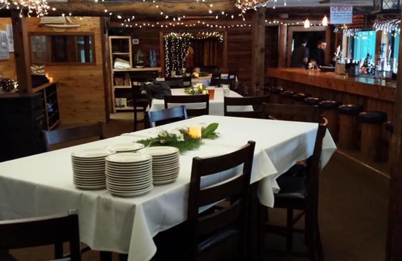 Dining at Elk Lake Resort.