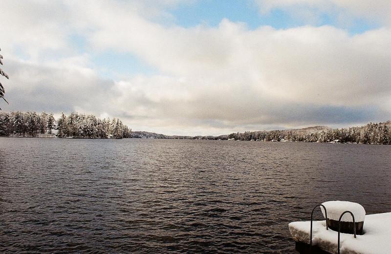 Lake view at Sherwood Inn.