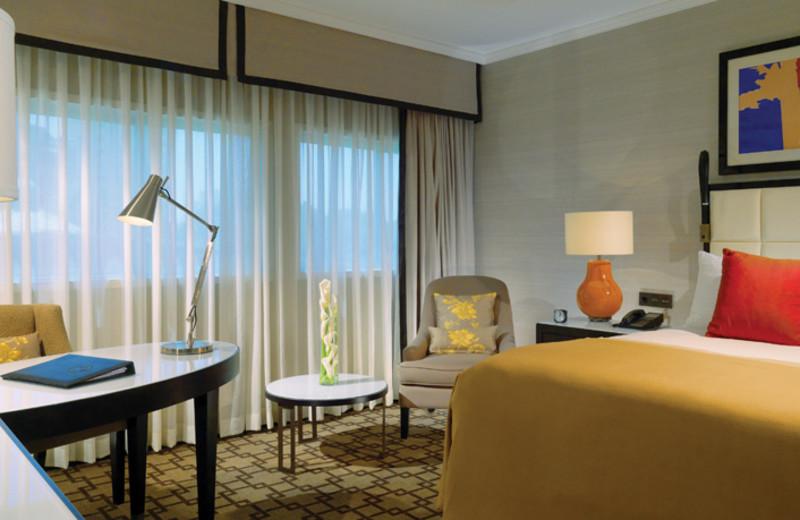 Guest room at Fairmont Heliopolis.