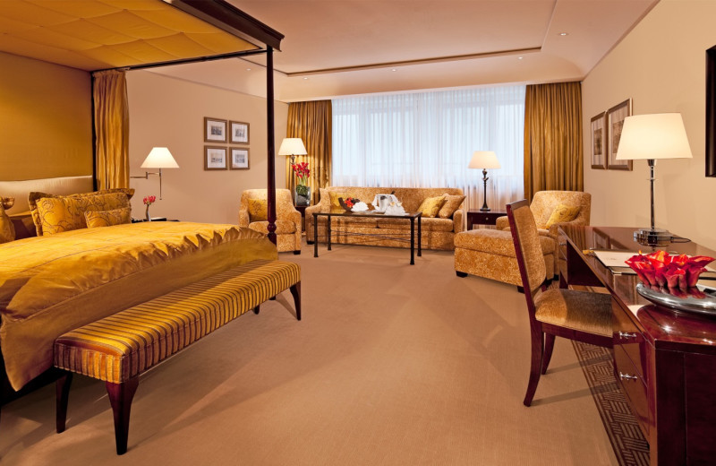 Guest room at Hotel Adlon.