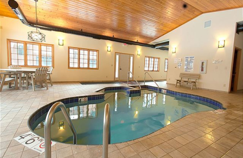 Rental indoor pool at The Conger Collection.