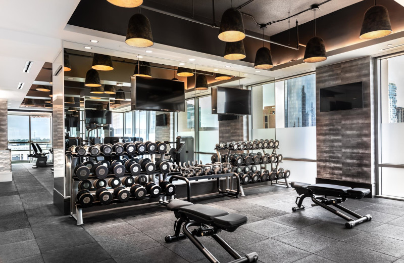 Fitness room at The Post Oak at Uptown Houston.