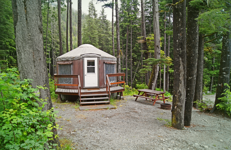 Yurt at Nootka Marine Adventures.