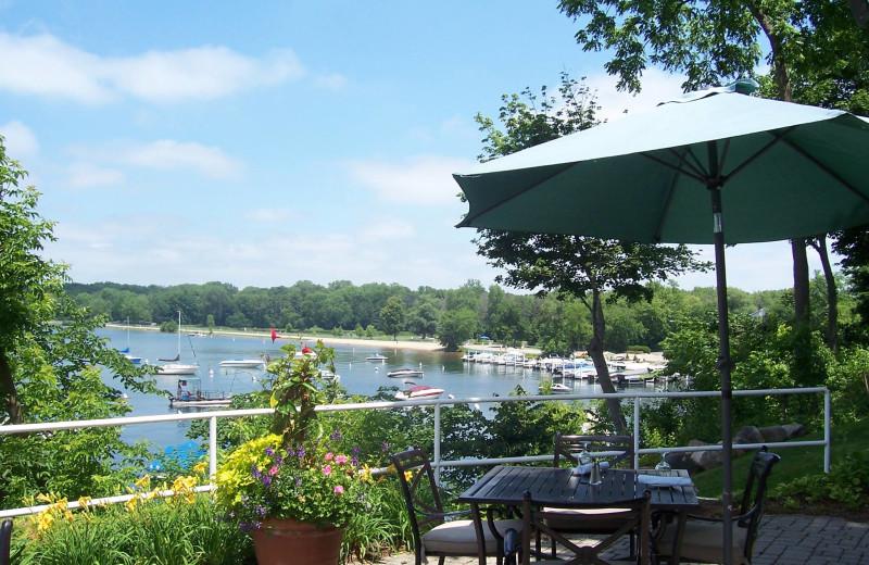 Patio view at The Geneva Inn.