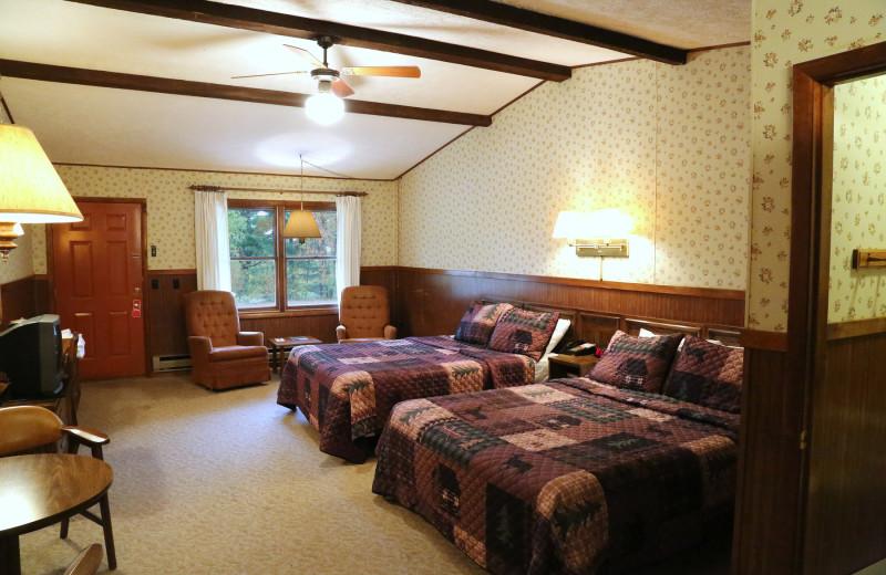 Hotel room at Keweenaw Mountain Lodge.