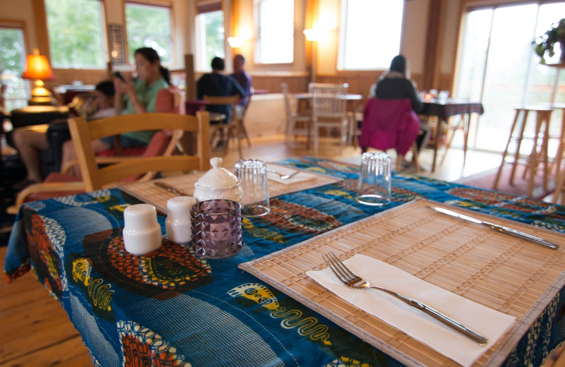 Dining at Cabot Shores Wilderness Resort.