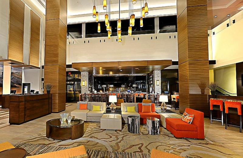 Lobby view at San Diego Marriott La Jolla.