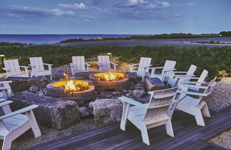 Bonfire at Harbor Hotel Provincetown.
