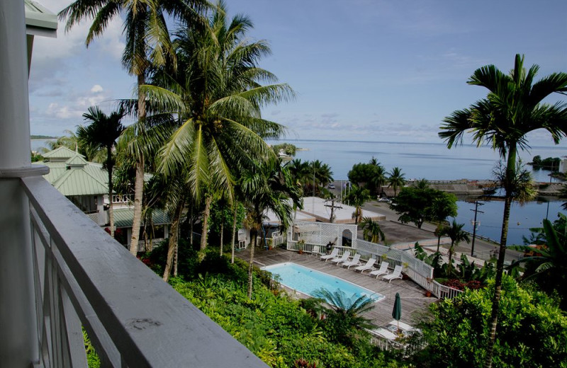Outdoor pool at Yap Pacific Dive Resort.