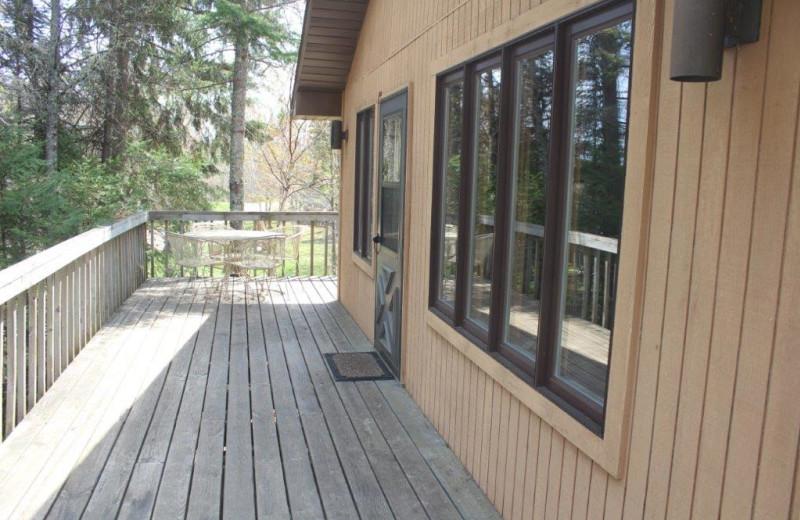 Cabin deck at Glenmore Resort.