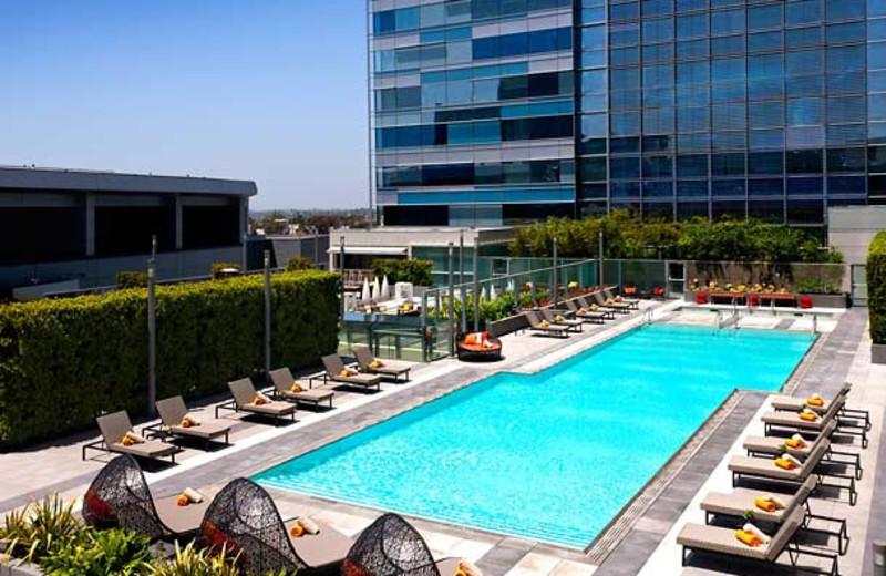 Outdoor pool at JW Marriott LA Live.
