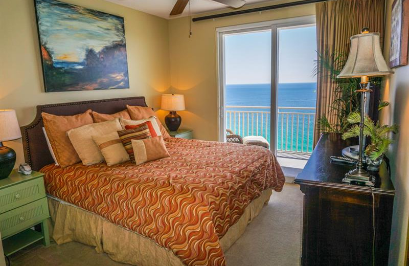 Rental bedroom at Sterling Resorts.