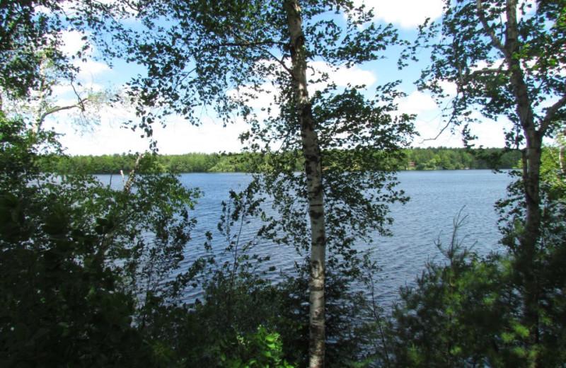 Lake view at Hidden Cove Resort.