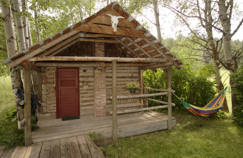Cabin exterior at Granite Creek Guest Ranch.