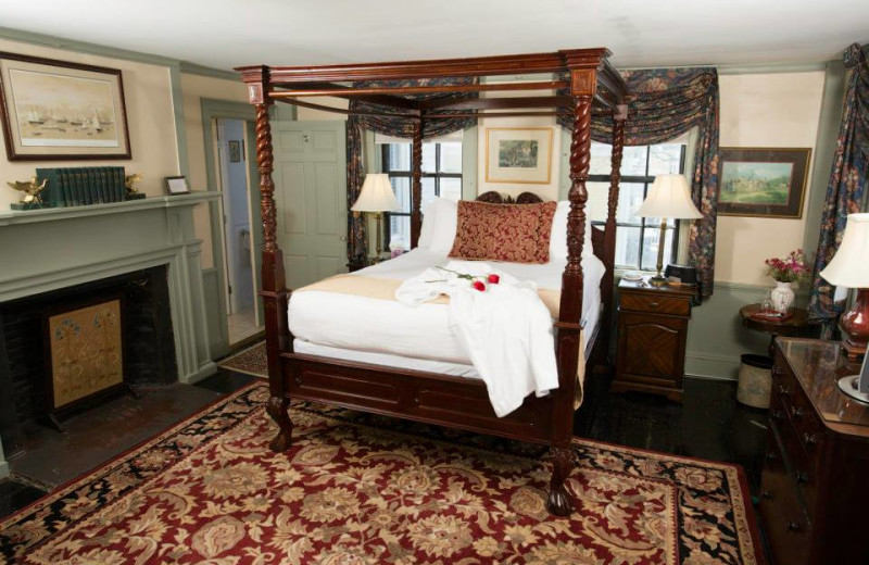 Guest room at Samuel Durfee House.
