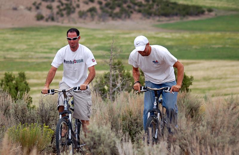 Biking at Utah Family Lodges.
