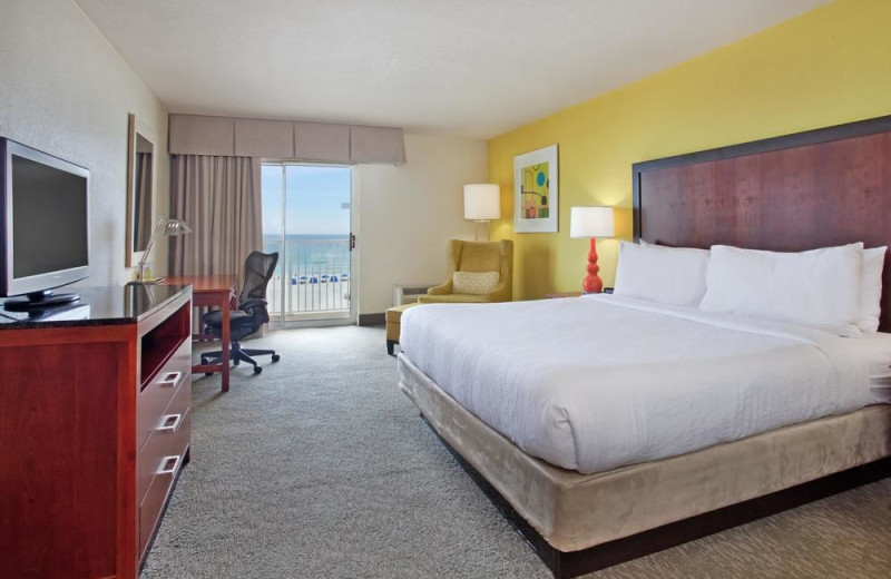 Guest room at Hilton Garden Inn Orange Beach Beachfront.