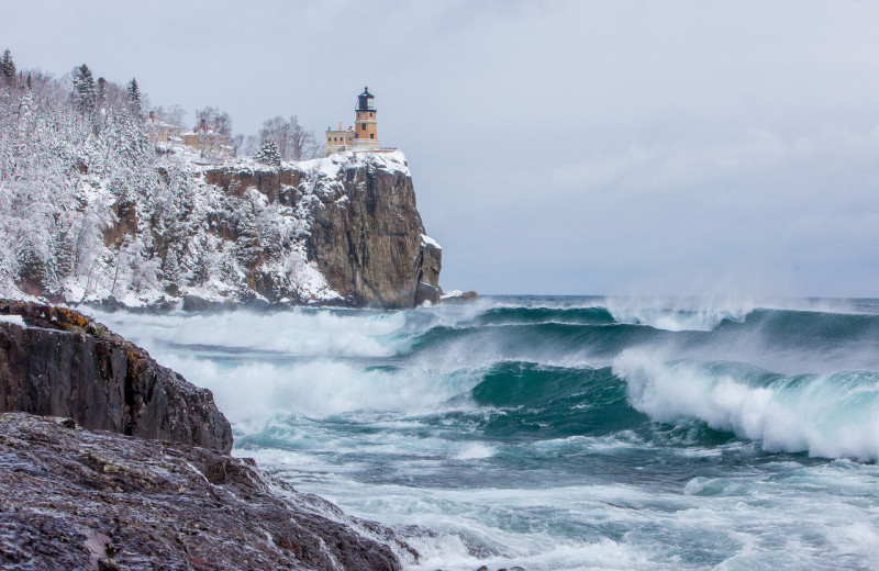 Lighthouse near Superior Shores Resort.