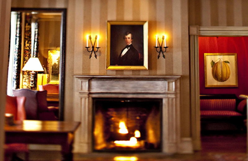 Fireplace at The Inns of Aurora.