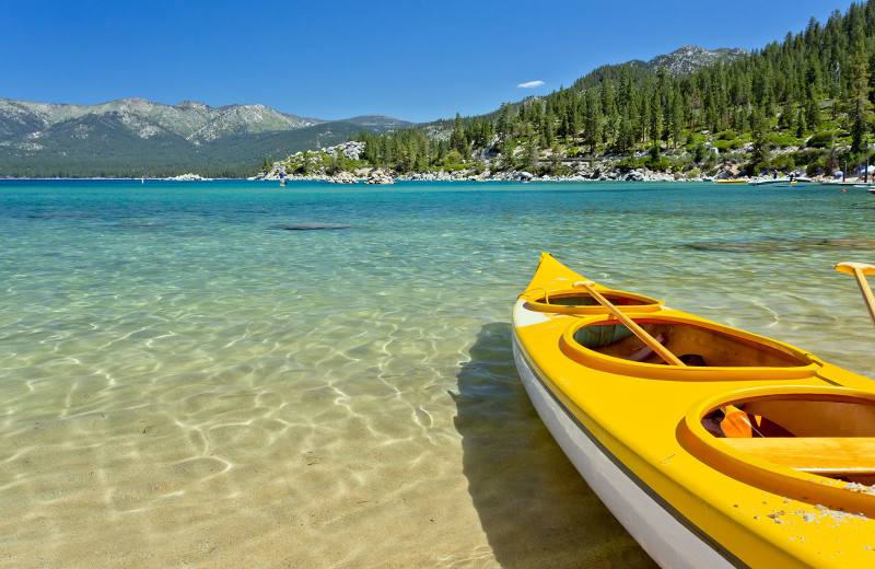 Kayaking at Meeks Bay Resort.