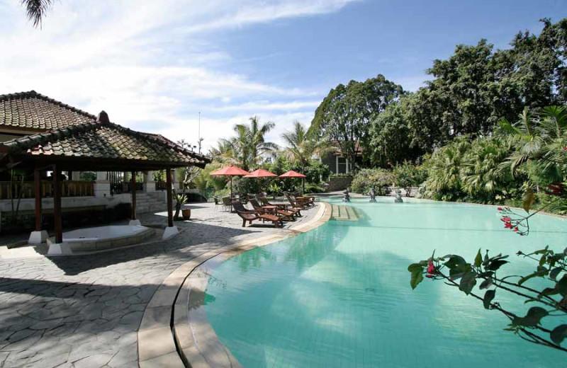 Outdoor pool at Novus Puncak Resort.