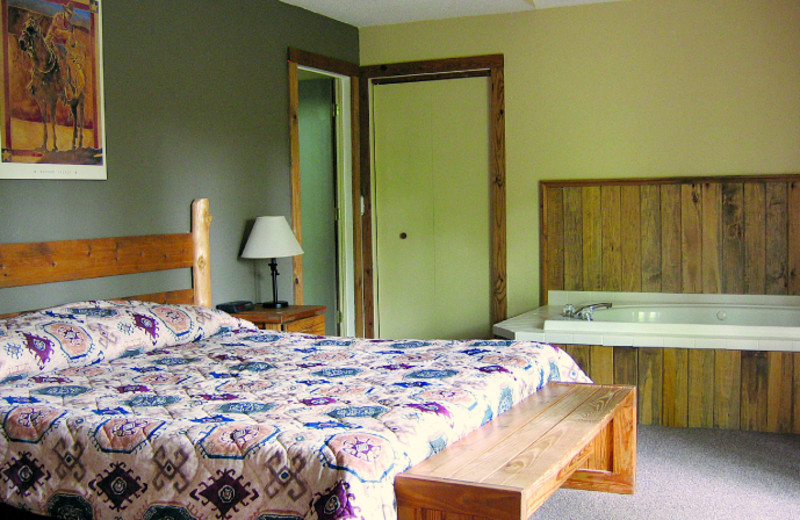 Guest room at Double JJ Resort.