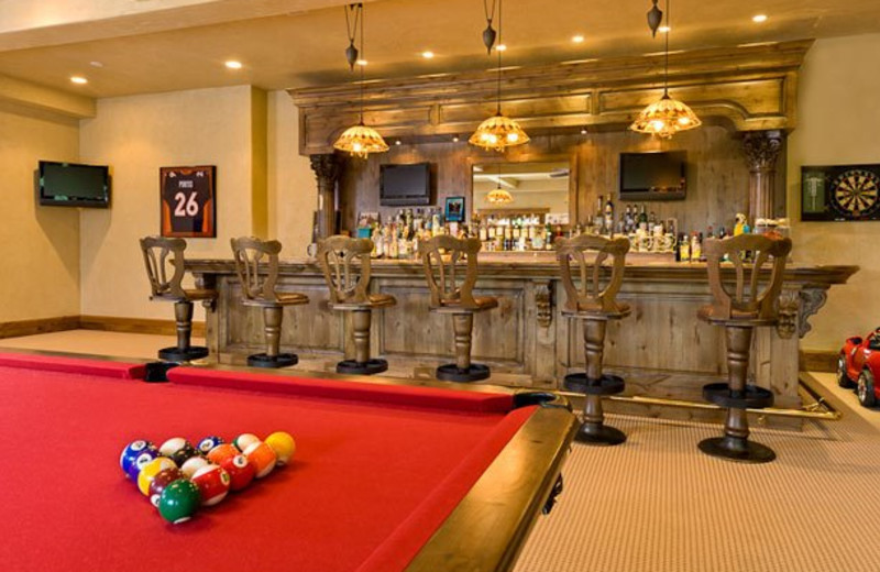 Rental Home Game Room at Triumph Mountain Properties