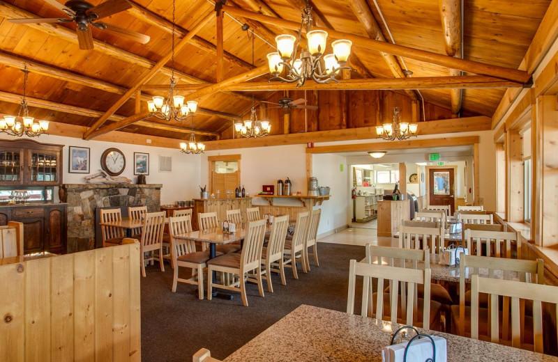 Dining at North Cascades Lodge at Stehekin.