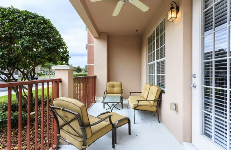Vacation rental patio at Casiola Vacation Homes.
