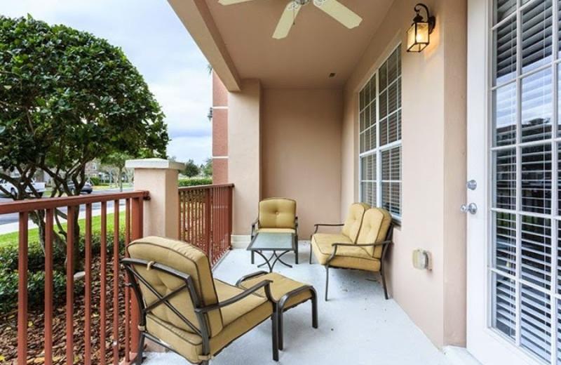 Vacation rental patio at Casiola Vacation Homes.