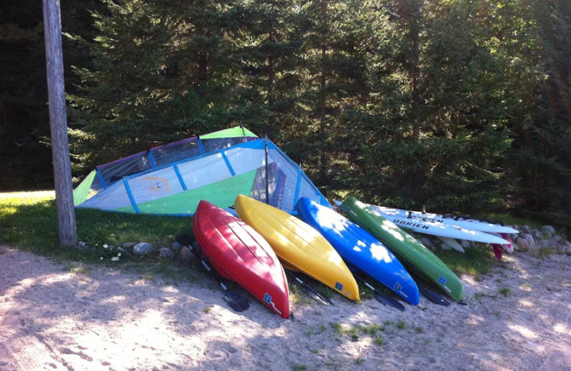Kayaks at Cabin O'Pines Resort & Campground.