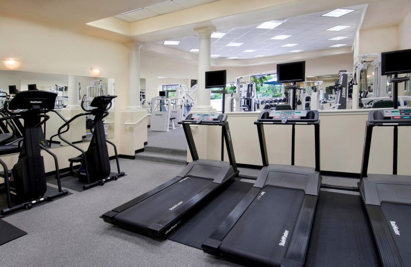 Fitness room at Town and Country Resort & Convention Center.