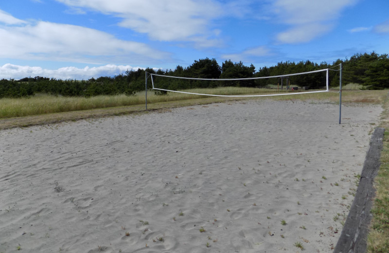 Volleyball court at Chautauqua Lodge.