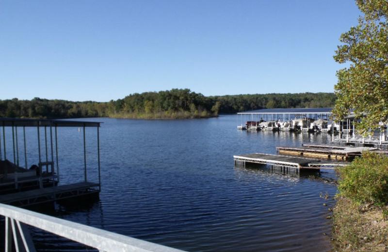 Lake view at Goody's Resort & RV Park.