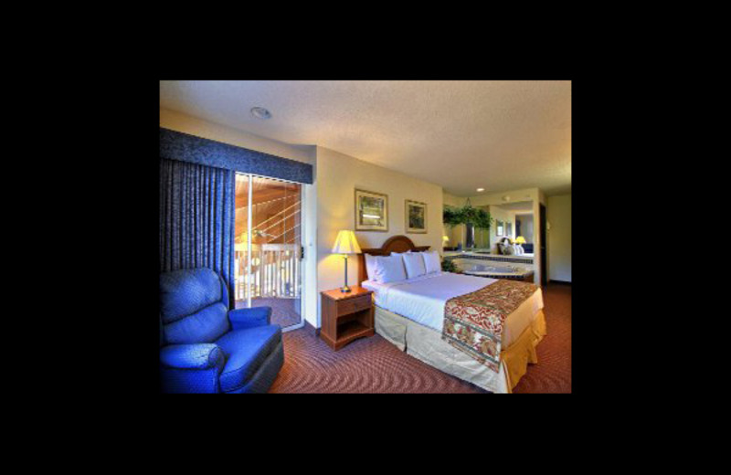 Guest room at Baymont InnSuites Howell.