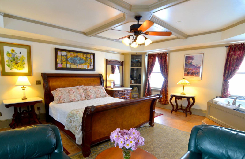 Guest room at Union Gables.