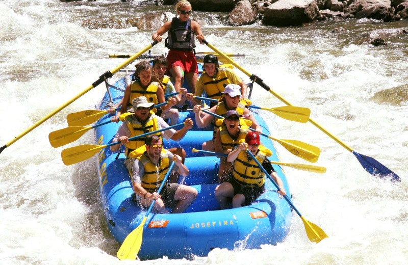 Rafting at Glenwood Hot Springs Resort.