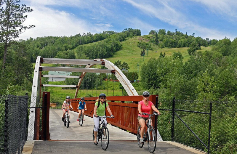 Biking at The Lodge at Giants Ridge.