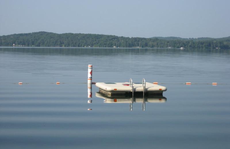 Swimming area at Kavanaugh's Sylvan Lake Resort.
