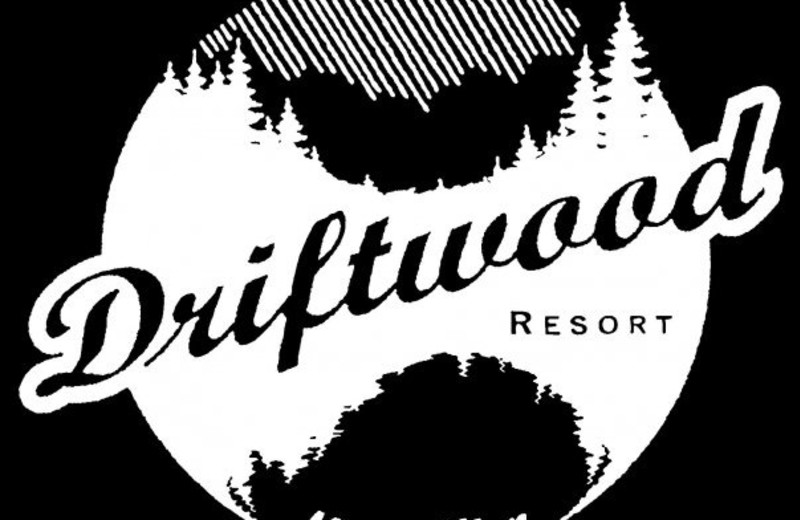 Logo of Driftwood Resort.