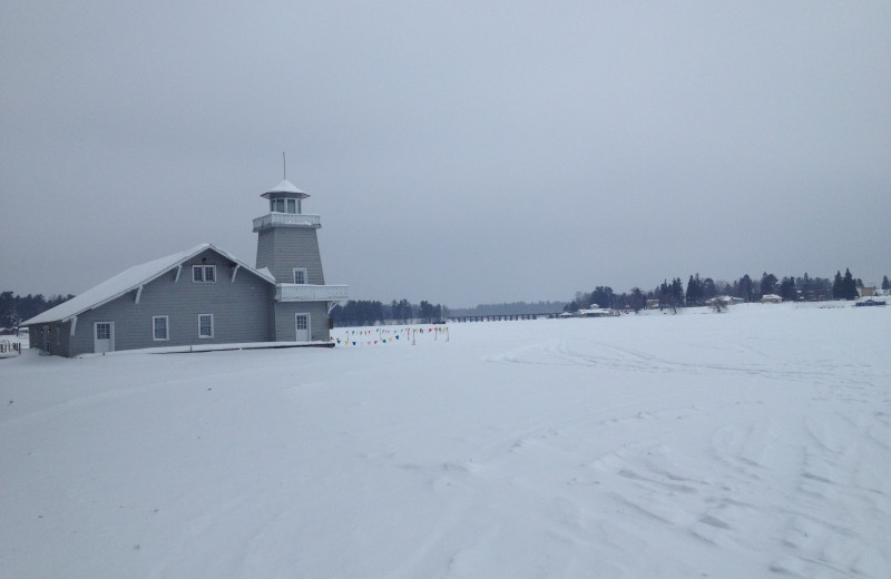 Winter landscape at The Beacons of Minocqua.
