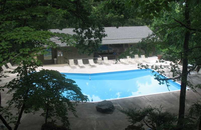View of property and pool at Red Apple Inn and Country Club.