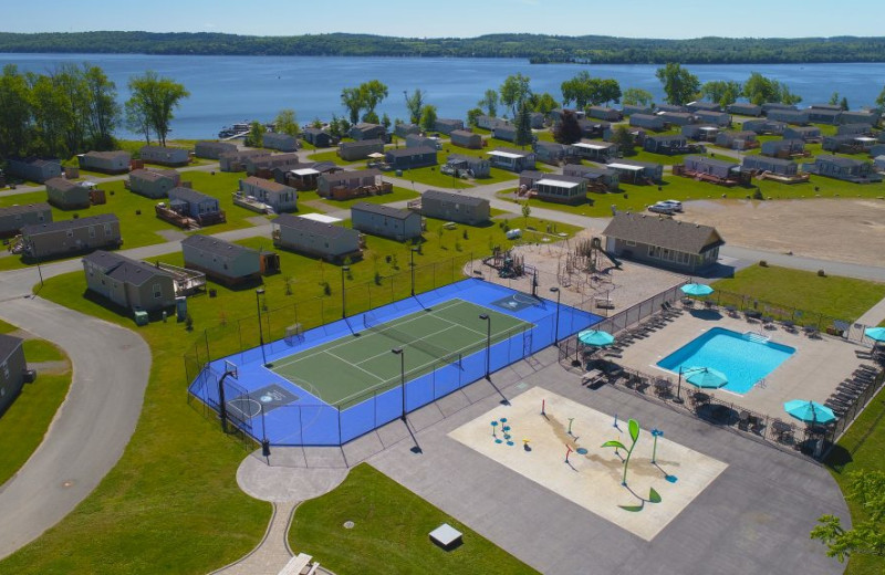 Aerial view of Great Blue Resorts- Bellmere Winds Resort.