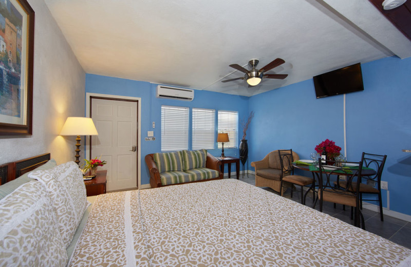 Rental bedroom at Paradise Cove Resort.
