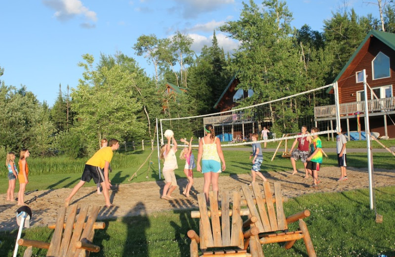 Volleyball court at Pehrson Lodge Resort.