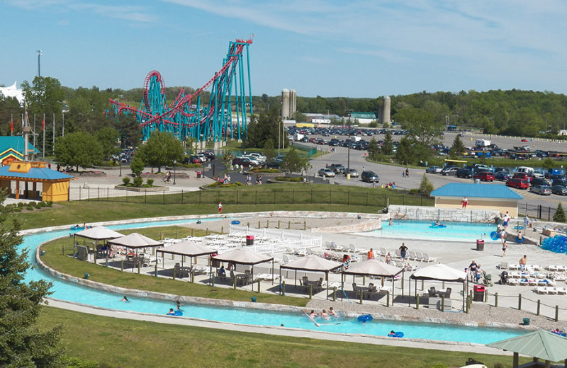 Floatation Station at Darien Lake Resort.