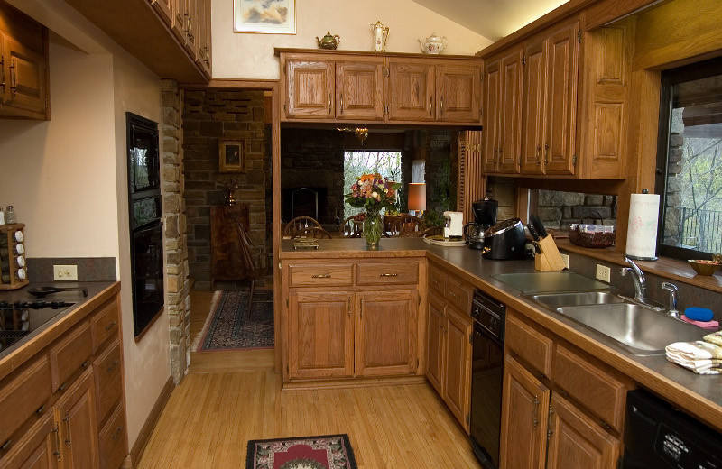 Kitchen at Azalea Falls Lodge.