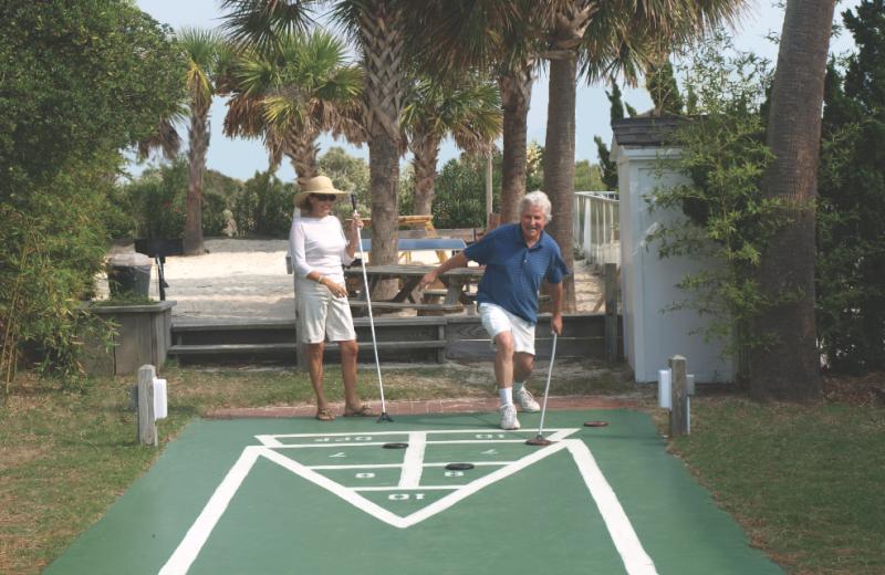 Shuffle board at The Winds Resort Beach Club.