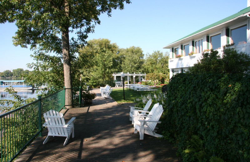 Outside deck at Elmhirst's Resort.